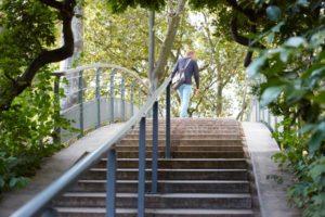 marche à pied dans le parc de bercy