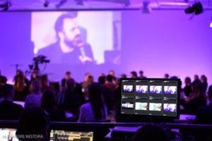 contrôle et lancement des vidéos depuis la régie technique