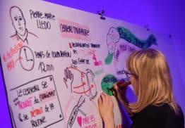 Brainstorming avec dessinateur